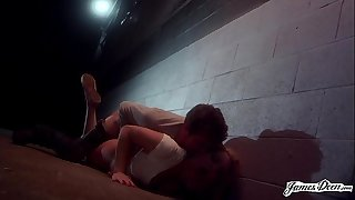 Utter Submission - Dahlia Sky gets Ass Fucked in Back Alley by a Stranger! - Rough Role Play Wish Sex with James Deen