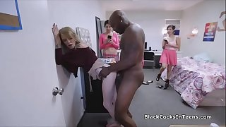 Big black cock sorority initiation game