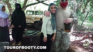 TOUR OF BOOTY - American Soldiers Getting Delicious Arab Pussy During Downtime