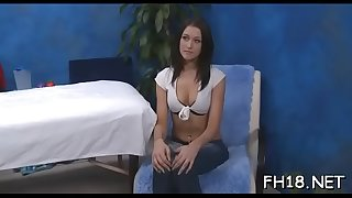 This sexy 18 yr old hot beauty gets screwed hard from behind by her massage therapist